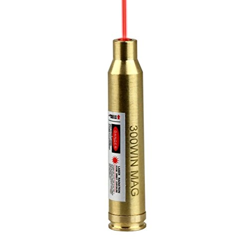 D8 Red Laser Bore Sighter 300 Win MAG Cartridge Sight Boresighter 300win Hunting (Brass)