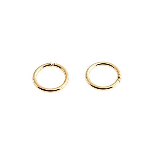 Earrings GF-OP-R-D6-0.8MM-20GA Gold Filled Hoops 6 x 0.8mm Hugging Tiny Handmade