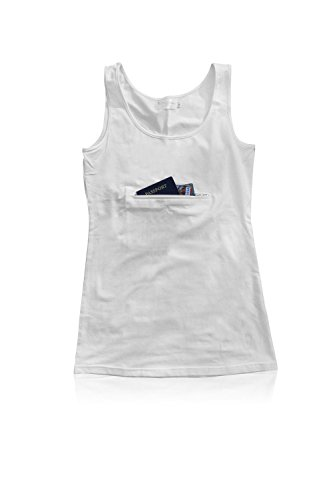 Clever Travel Companion Unisex Tank top with secret pocket White X-Large