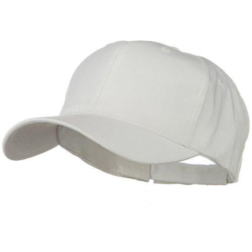 e4Hats.com New Big Size High Profile Twill Cap - White OSFM