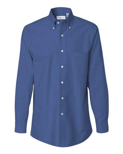 57800 Van (57800 Van Heusen Men's Classic Long-Sleeve Oxford (English Blue) (XL))