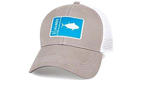 Costa Del Mar Original Patch Tuna Gray/White New 2017 Hat (Southern Tuna)