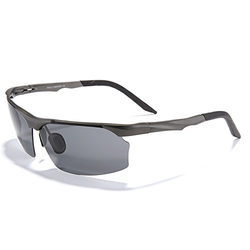 gafas Grigio aleación sol gafas gris de magnesio de de automóvil de sol aluminio gafas polarizadas gafas hombres Hombres de TIANLIANG04 oculos SRnxTT