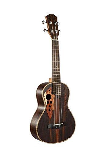 23-inch Hawaii ukulele rosewood professional concert Ukulele send tuner trim folder thick piano bag - Image 1