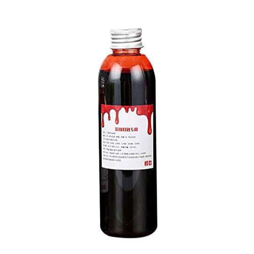 Aulley 60ml/120ml Fake Blood Bleeding Gel Plasma Edible Cosplay Makeup Halloween April Fool's Day Party Horror Costume Toy