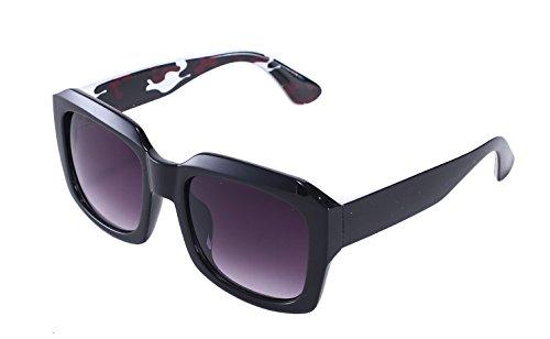 TomYork Womens New Fashion Retro Big Frame Driving Sunglasses(C7) (Wiz Nose)