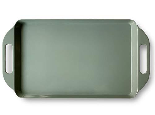 - Bowla Melamine Rectangular Serving Tray with Handles (Green)