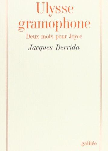 Ulysse Gramophone Deux Mots Pour Joyce [Pdf/ePub] eBook