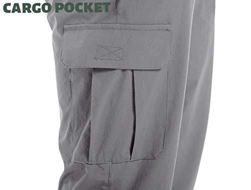 TACVASEN Men's 3/4 Capri Pants Quick Dry Workout Hiking Cargo Shorts with Zipper Pockets