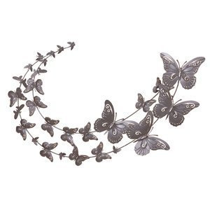 Butterfly Swoosh   Metal Butterfly Wall Art   Extra Large