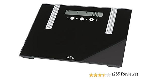 AEG PW 5571 - Báscula baño de análisis corporal de 6 funciones, de cristal y acero inoxidable: Amazon.es: Salud y cuidado personal