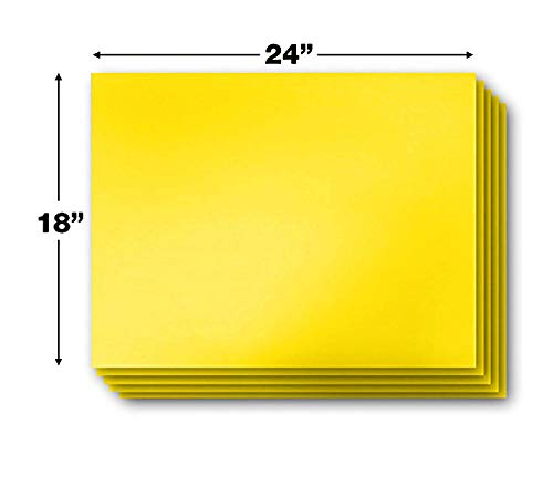 Vibe Ink Pack of Blank Yellow Yard Signs 18x24 with H-Stakes for Garage Sale, for Rent, Open House, Estate Sale, Now Hiring, or Political Lawn Signs (25) by Vibe Ink (Image #2)
