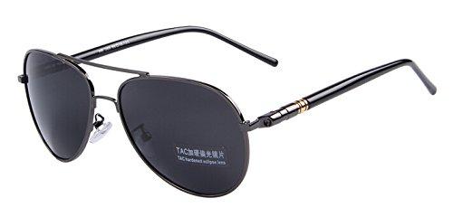 de polarizadas C07 C02 TIANLIANG04 plateada Por sol verano Multicolor Oculos tanto conducción Gray hombres Black noche gafas lo ZUZq8wY
