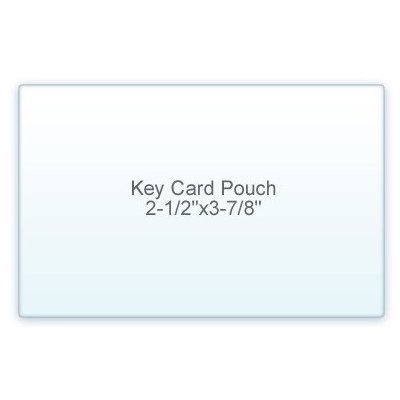 7 Mil. Key Card Size lamination Pouch Letter Size Clear (2 1/2'' X 3 7/8'') 100 Pcs by Onlineskyline.com