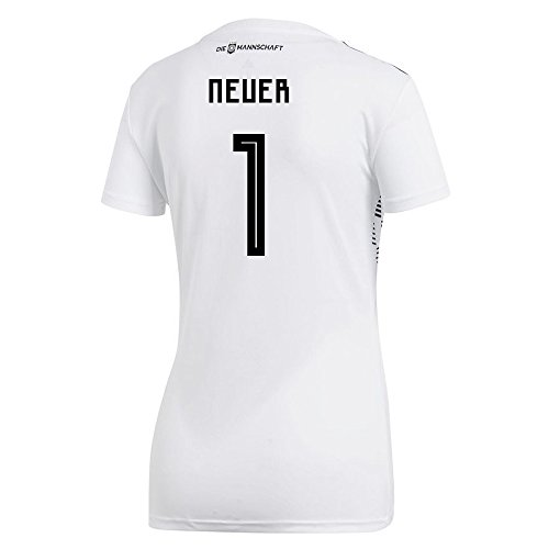 Soccer Jersey Adidas Germany (adidas NEUER #1 Germany Home Women's Soccer Jersey World Cup Russia 2018 (S))
