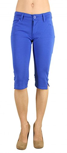 Colored Shorts Slim Soft Stretch Bermuda - Sexy, Cute Multiple Colors - Shade Royal - Waist M