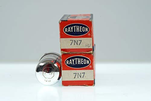 (2 Vintage Raytheon 7N7 / CV898 Loctal Twin Triode Preamp Tube Valve - BangyBang Tubes)