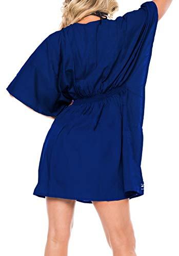 costume collo pi Leela super ricamato formato bagno La artistico swimwear dello donne da profondo rayon lisce 8Zwqp5tpd
