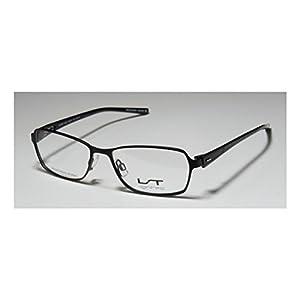 Lightec 7070l Mens/Womens Designer Full-rim Flexible Hinges Eyeglasses/Glasses (50-15-135, Black)