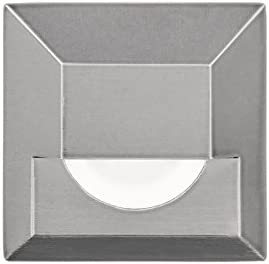 WAC Lighting 2061-30SS WAC Indicator 3 LED 12V Square Step and Wall Light in Stainless Steel