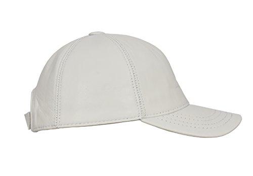 Talla Todos Sombrero Real de Cuero Blanco Para Gorra Suave de Béisbol única zTxqSSYZ