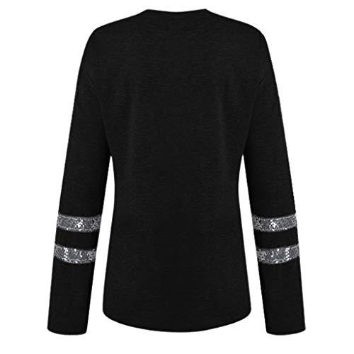 San Nero Valentino Camicia Maniche Fashion Poliestere Cotone Girocollo Ihengh Camicetta Regalo Moda Per Donna Casual Stampa Ragazza Shirt Cativo Estate Lunghe v6gYbf7y