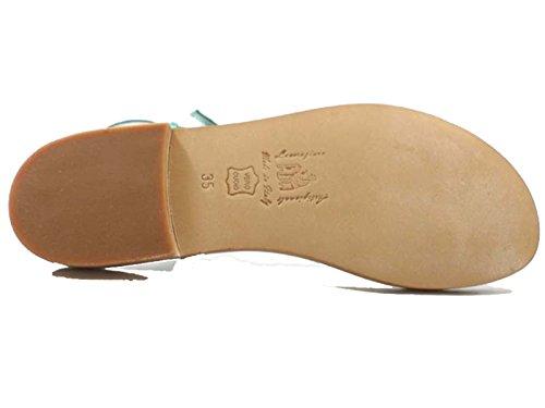 Zapatos Mujer EDDY DANIELE 42 EU Sandalias Verde Gamuza AW106