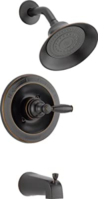 Peerless Claymore Single-Handle Tub and Shower Faucet Trim Kit with Single-Spray Shower Head