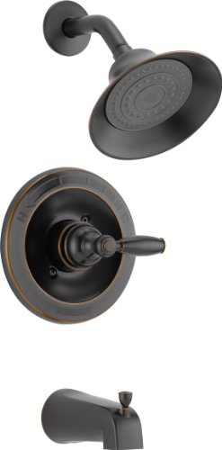 Peerless Claymore Single-Handle Tub and Shower Faucet Trim Kit with Single-Spray Shower Head, Oil-Rubbed Bronze PTT188790-OB (Valve Not Included) ()