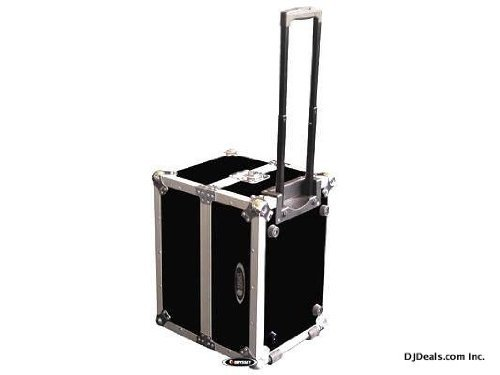 Odyssey Innovative Designs Flight Zone ATA Case for Up to 120 LP Records with Handle & Wheels