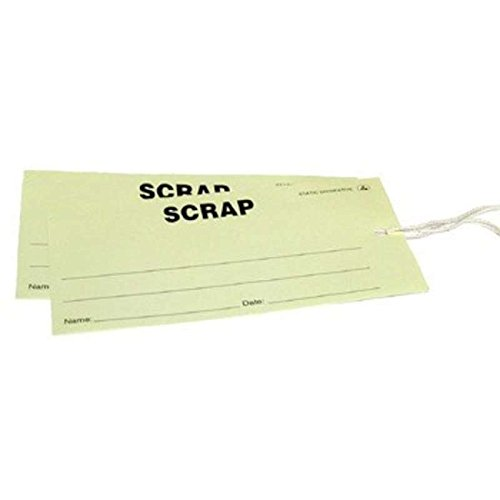 ESD-Safe Yellow ''Scrap'' Paper Tags, 2-3/4 x 5'', 100 per Package