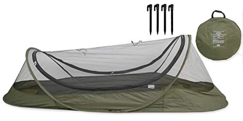 USGI Industries Bivy Tent Sleeping Net System for Outdoors, Camping, Home and Flying Insect Protection (OD Green) ()