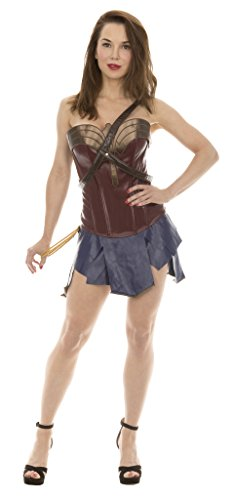 Wonder Woman Corset & Skirt Cosplay Costume (Womens Medium)