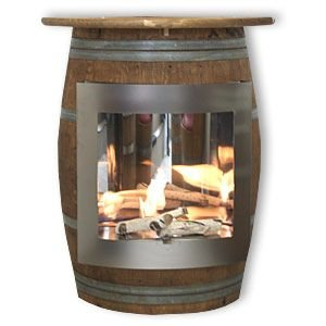 JUNIT Fasskamin - Bioethanolkamin aus Eichenfass Weinfass Holzfass
