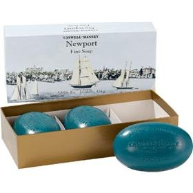 Caswell-Massey Triple Milled Luxury Bath Soap Newport Gift Set – Famed Fragrance – 5.8 Ounces Each, 3 Bars For Sale