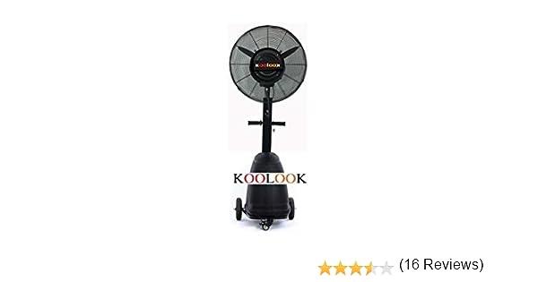 KOOLOOK Ventilador/nebulizador Black Pro Uso Profesional: Amazon ...