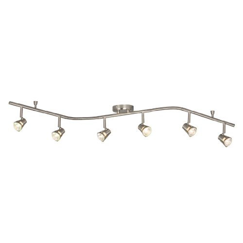 Price comparison product image Galaxy Lighting 755596BN 6 Light Halogen Flexible Track Lighting