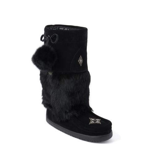 Waterproof Snowy Owl Mukluk Black