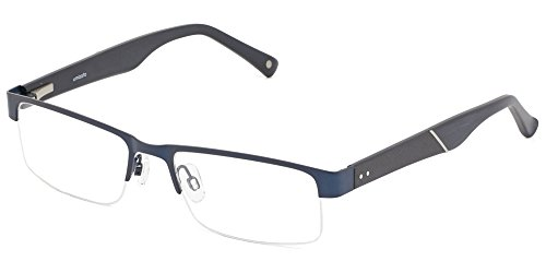 Prescription Glasses Frames Eyeglasses For Men [by Umizato] Semi-Rimless, Fashion Designer Vintage, Half Rim, Optical Rx, Lentes (Dayton in Navy)