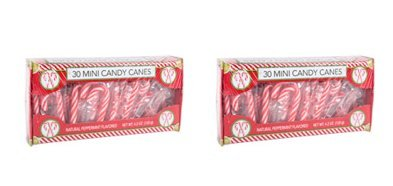 Peppermint Candy Cane Mini's 4.2 oz ~ 30 Mini Candy Canes ~ 2 Pack