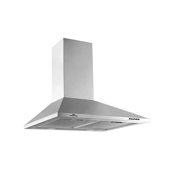 WINSTON Ace 60 cm 950 m3/hr Suction Chimney (Push Button, 2 Baffle Filter, Silver) for Modular Kitchen by winston