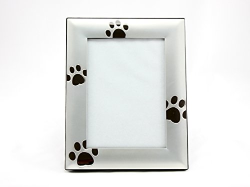 Skyway Puppy Dog Paw Print Pet Photo Picture Frame Silver - 4 x - Dogs Pictures Cats