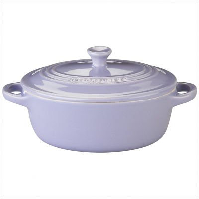 Le Creuset Stoneware 12-Ounce Mini Oval Cocotte, Lilac