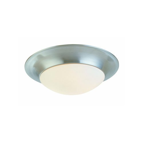 Sonneman 3753 Single Light Flush Mount Ceiling Fixture From the Trumpet Collecti, Polished Nickel - Sonneman Trumpet
