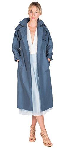 Marco Migliore The Migliore 100% Cotton Women's Trench Coat (Medium, Ash Blue) by Marco Migliore
