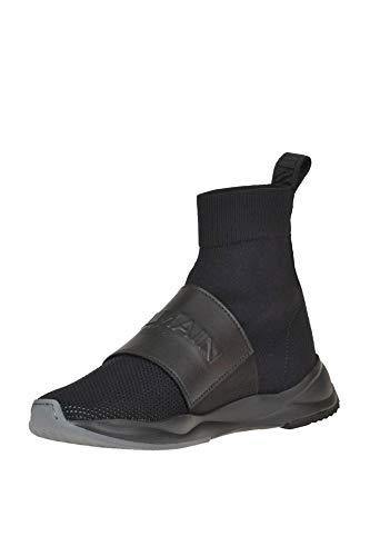 Nero Slip Mcglcak000005015e Donna Tessuto On Sneakers Balmain Uw0q8Y8