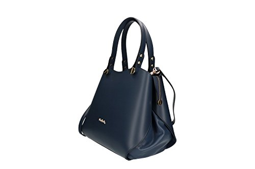 a52dcaaf899fb Tasche damen mit schultergurt PIERRE CARDIN blau leder Made in Italy VN585