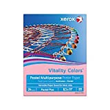 Xerox(R) Vitality Colors(TM) Pastel Plus Multipurpose Printer Paper, Letter Size, 24 Lb, 30% Recycled, Pink, Ream of 500 Sheets