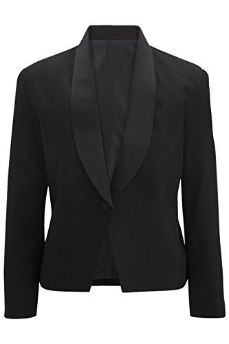 (Edwards Women's Stain Resistant Eton Server Jacket, Black, Small)