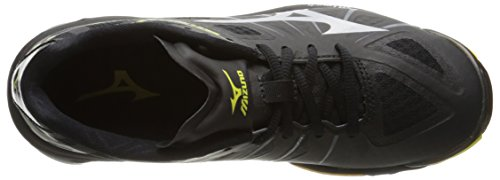 b2a13b988be84 Mizuno Women's Wave Lightning Z WOMS BK-SL Volleyball Shoe, Black/Silver,  11 B(M) US